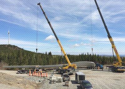 Témiscouata-sur-le-Lac wind turbine transport project